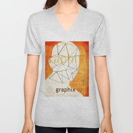 graphix head Unisex V-Neck