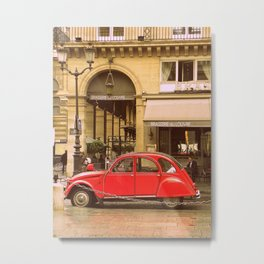 A Little Red Car in Paris  Metal Print