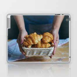 Croissant in a wicker basket Laptop & iPad Skin