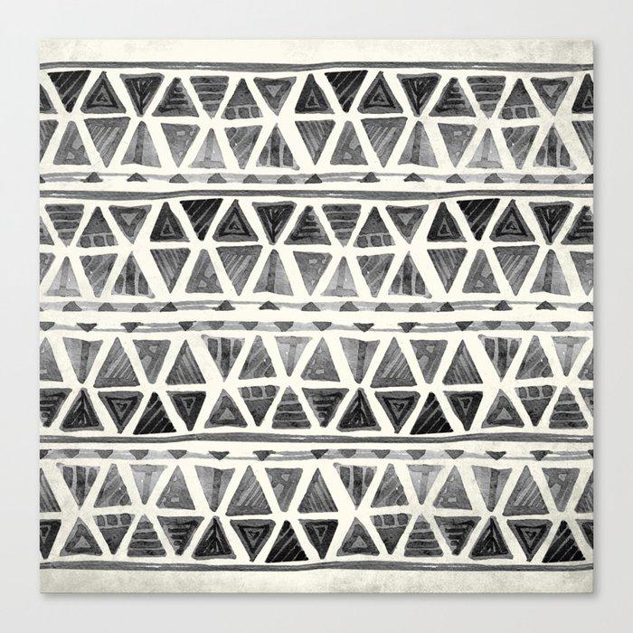 Tribal Geometric Chevron Stripes Canvas Print