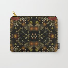 Dark Floral Roses Carry-All Pouch
