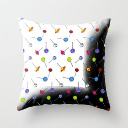 Space Pops Throw Pillow