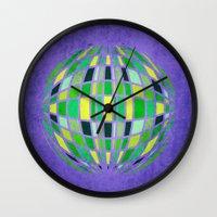 globe Wall Clocks featuring globe by Katilinova