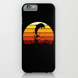 Vintage Dolphins showing sea life wildlife iPhone Case