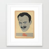 terry fan Framed Art Prints featuring Terry by Thomas Saunders