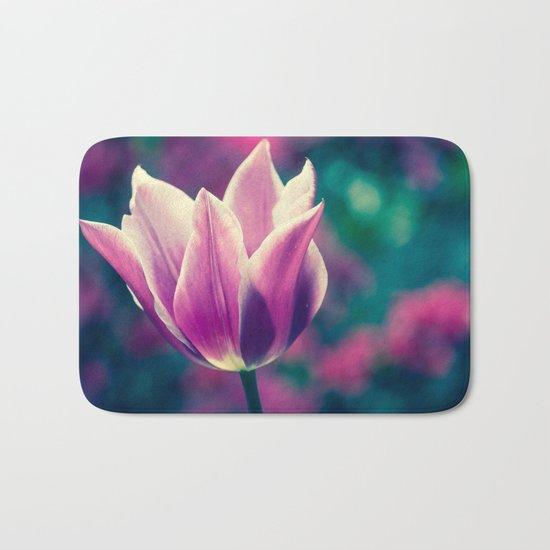 purple tulip Bath Mat