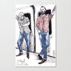 Urban Lumberjacks by Kat Mills Canvas Print