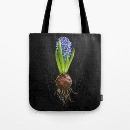 Blue Hyacinth Hydroponics (tryptic 1/3) Tote Bag