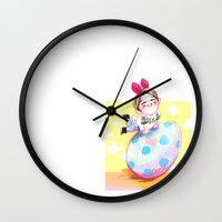 shinee Wall Clocks featuring Ontokki SHINee Onew by sophillustration
