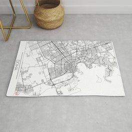 Doha Map White Rug