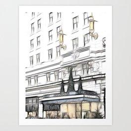 Strand Palace hotel Art Print