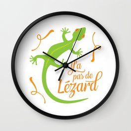 There's No Lizard Wall Clock