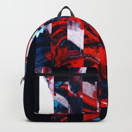 Abstract Screen Printing Shape Backpack