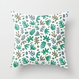 Matisse Paper Cuts // Jungle Leaves Throw Pillow
