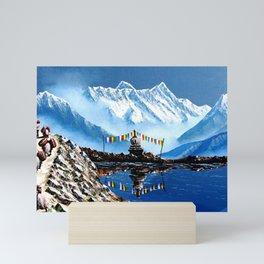 Panoramic View Of Annapurna Mountain Nepal Mini Art Print
