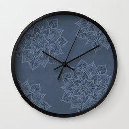 Essence - Stamp Blue Wall Clock