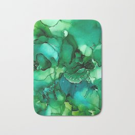 Into the Depths of Sea Green Mysteries Bath Mat