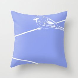On a Blue Wire Throw Pillow