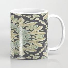 Mandala Leaves In Pale Blue, Green and Ochra Coffee Mug