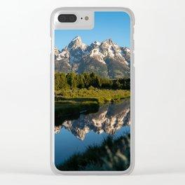 Grand Teton Sunrise Clear iPhone Case