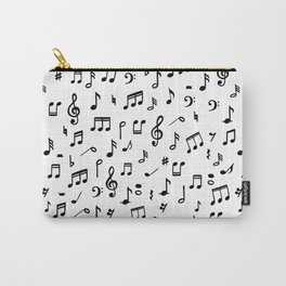 Music notes in black and white Carry-All Pouch