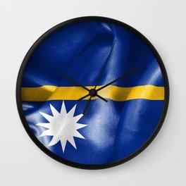 Nauru Flag Wall Clock