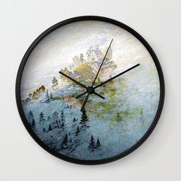 Caspar David Friedrich Morning Mist in the Mountains Wall Clock