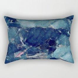 Blue marble texture Rectangular Pillow