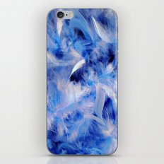 Blue Plumes iPhone & iPod Skin