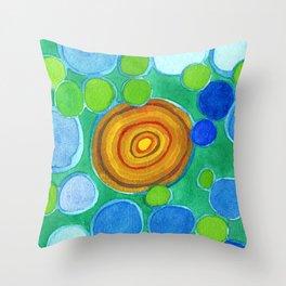 Stones under Water Throw Pillow