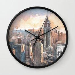 New York aquarelle Wall Clock