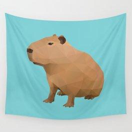 Capybara Polygon Art Wall Tapestry