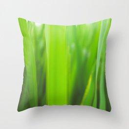Summer is green Throw Pillow