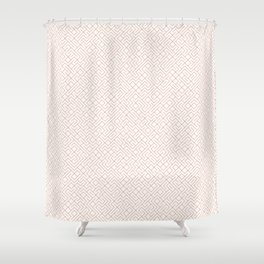 10 Print: Thin Red Shower Curtain