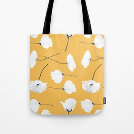 Poppies on mustard Tote Bag