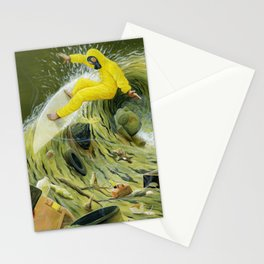 Coastal Pollution Stationery Cards