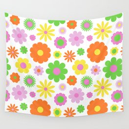 Vintage Daisy Crazy Floral Wall Tapestry