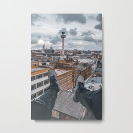 On top of Liverpool - Merseyside Metal Print