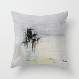 No. 08 Pastel Abstract Painting  Throw Pillow