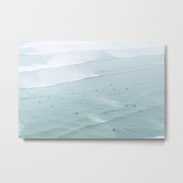 Tiny Surfers from the Sky 2, Lima, Peru Metal Print