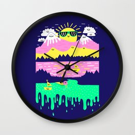 Happy Lake Wall Clock