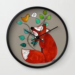 Ernst the fox Wall Clock