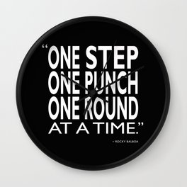 One Step One Punch One Round Wall Clock