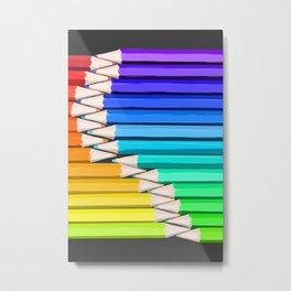 Rainbow of Creativity Metal Print