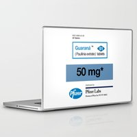posters Laptop & iPad Skins featuring Kitchen Posters - Viagra/Guarana by mvaladao