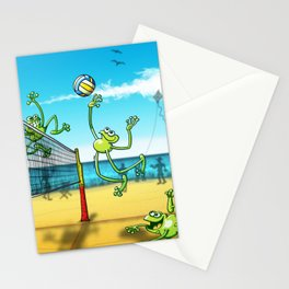 Olympic Volleyball Frog Stationery Cards