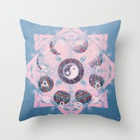 trippy Throw Pillows featuring Trippy by Sara Eshak