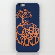 Create Your Own World iPhone & iPod Skin