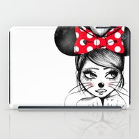 minnie iPad Cases featuring Minnie by theavengerbutterfly