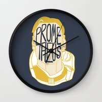 prometheus Wall Clocks featuring Prometheus by SleptAwoke